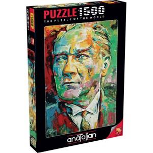 "Anatolian (4555) - Tolga Ertem: ""Mustafa Kemal Ataturk"" - 1500 pieces puzzle"