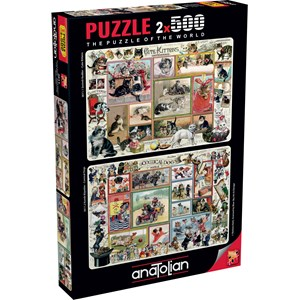 """Anatolian (3611) - Barbara Behr: """"Cute Kittens & Comical Dogs"""" - 500 pieces puzzle"""