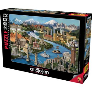 "Anatolian (3941) - Daniela Pirola: ""Popular Landmarks"" - 2000 pieces puzzle"