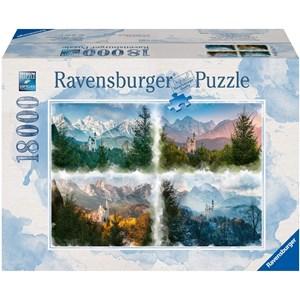 "Ravensburger (16137) - ""Fairy Castle in 4 Seasons (Neuschwanstein)"" - 18000 pieces puzzle"