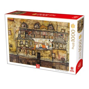 """Deico (76748) - Egon Schiele: """"House Wall on the River"""" - 1000 pieces puzzle"""