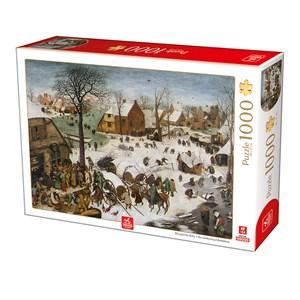 """Deico (76649) - Pieter Brueghel the Elder: """"The numbering at Bethlehem"""" - 1000 pieces puzzle"""