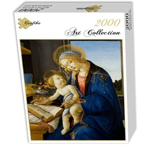 "Grafika (01284) - Sandro Botticelli: ""The Madonna of the Book, 1480"" - 2000 pieces puzzle"
