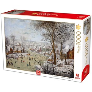 """Deico (76656) - Pieter Brueghel the Younger: """"Winterlandscape with a Bird Traps"""" - 1000 pieces puzzle"""