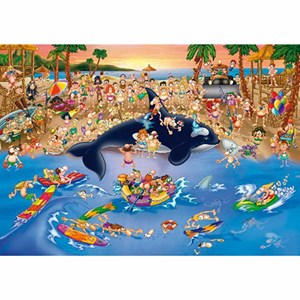 "D-Toys (70876) - ""Trafic Jam at the Beach"" - 1000 pieces puzzle"
