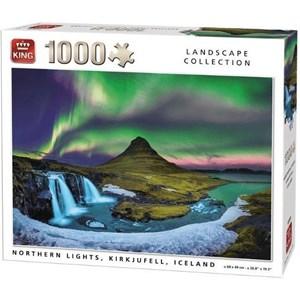 "King International (55938) - ""Northern Lights, Kirkjufell, Iceland"" - 1000 pieces puzzle"