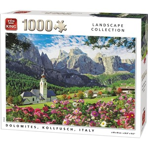 """King International (55940) - """"Dolomites, Kollfusch, Italy"""" - 1000 pieces puzzle"""