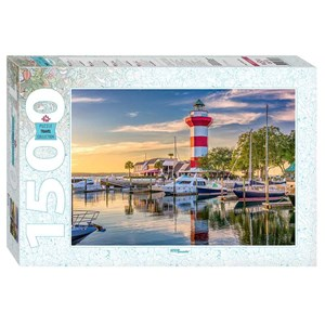 "Step Puzzle (83063) - ""Harbour Town Lighthouse, South Carolina"" - 1500 pieces puzzle"