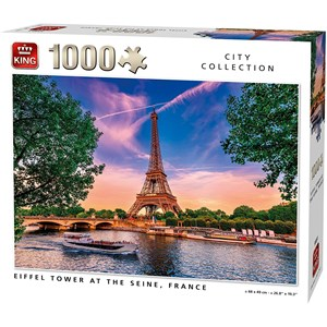"""King International (55851) - """"Eiffel Tower at The Seine"""" - 1000 pieces puzzle"""