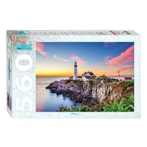 "Step Puzzle (78104) - ""Portland Head Lighthouse"" - 560 pieces puzzle"
