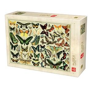 "Deico (76786) - ""Encyclopedia Butterflies"" - 1000 pieces puzzle"