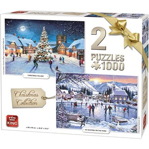 """King International (05217) - """"Christmas Collection"""" - 1000 pieces puzzle"""