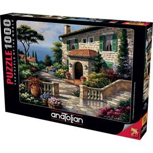 """Anatolian (1076) - Sung Kim: """"Villa Delle Fontana"""" - 1000 pieces puzzle"""