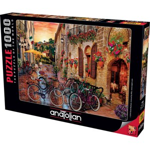 "King International (1068) - ""Biking in Tuscany"" - 1000 pieces puzzle"