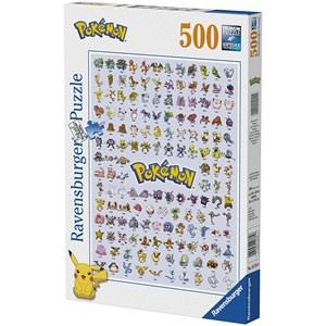 "Ravensburger (14781) - ""Pokémon, Pokédex First Generation"" - 500 pieces puzzle"