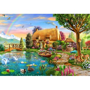 "Bluebird Puzzle (70254) - Adrian Chesterman: ""Lakeside Cottage"" - 6000 pieces puzzle"