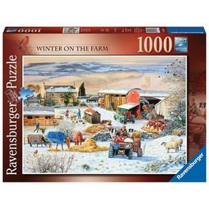 "Ravensburger (16478) - ""Winter on the Farm"" - 1000 pieces puzzle"