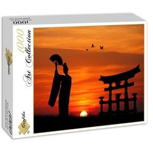 """Grafika (00653) - """"Geisha at Sunset"""" - 1000 pieces puzzle"""