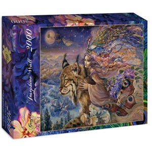 "Grafika (00893) - Josephine Wall: ""Flight of the Lynx"" - 2000 pieces puzzle"