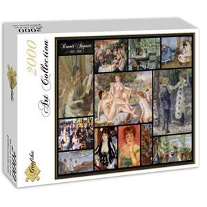 "Grafika (00842) - Pierre-Auguste Renoir: ""Auguste Renoir, Collage"" - 2000 pieces puzzle"