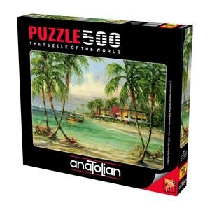"Anatolian (3616) - Martin Figlinski: ""Barefoot Bungalow"" - 500 pieces puzzle"