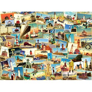 "SunsOut (70064) - Kate Ward Thacker: ""Northern Lighthouses"" - 1000 pieces puzzle"
