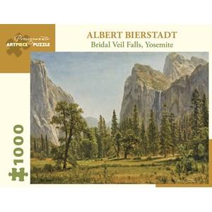 "Pomegranate (aa1029) - Albert Bierstadt: ""Bridal Veil Falls, Yosemite Valley, California"" - 1000 pieces puzzle"