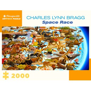 """Pomegranate (aa1079) - Charles Lynn Bragg: """"Space Race"""" - 2000 pieces puzzle"""