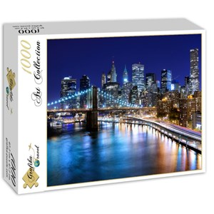 "Grafika (01150) - ""New York by Night"" - 1000 pieces puzzle"