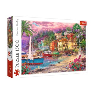"""Trefl (26158) - """"On the Golden Shores"""" - 1500 pieces puzzle"""