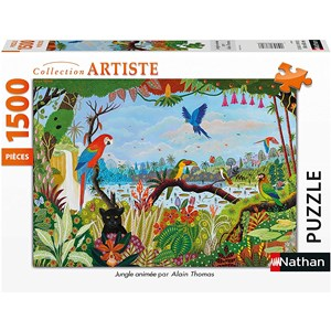 """Nathan (87799) - """"Animated Jungle"""" - 1500 pieces puzzle"""