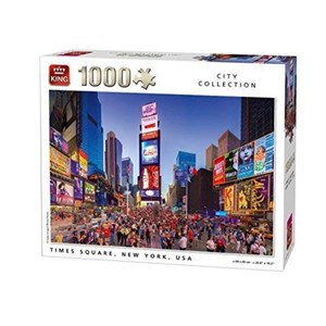 """King International (05707) - """"Times Square, New York"""" - 1000 pieces puzzle"""