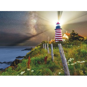 "SunsOut (45701) - Michael Blanchette: ""Night over West Quoddy Lighthouse"" - 1000 pieces puzzle"