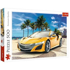 "Trefl (37381) - ""Summer Adventure Car"" - 500 pieces puzzle"