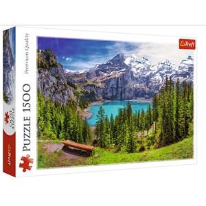 "Trefl (26166) - ""Lake Oeschinen, Alps, Switzerland"" - 1500 pieces puzzle"