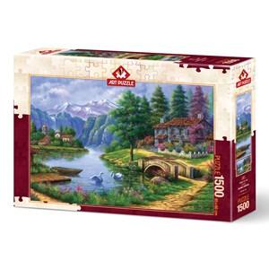 """Art Puzzle (5371) - """"Lake Village"""" - 1500 pieces puzzle"""
