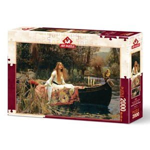 "Art Puzzle (5478) - John William Waterhouse: ""The Lady of Shalott, 1888"" - 2000 pieces puzzle"