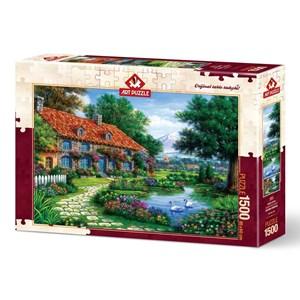 """Art Puzzle (4551) - """"The Garden"""" - 1500 pieces puzzle"""