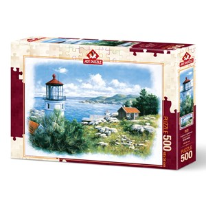 "Art Puzzle (5076) - ""Lantern on the Shore"" - 500 pieces puzzle"