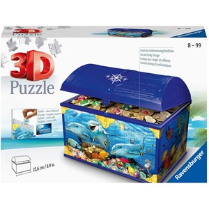 "Ravensburger (11174) - ""Treasure Chest, Underwater World"" - 216 pieces puzzle"