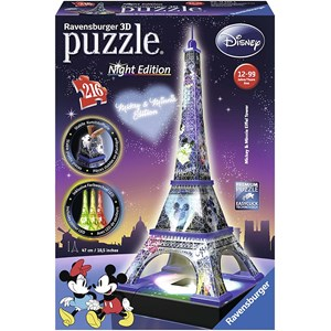 "Ravensburger (12520) - ""Disney Eiffel Tower"" - 216 pieces puzzle"
