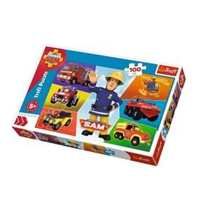 "Trefl (16354) - ""Fireman Sam"" - 100 pieces puzzle"
