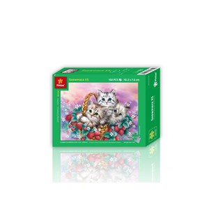 """Pintoo (p1119) - """"Basket of Strawberries for Cats"""" - 150 pieces puzzle"""