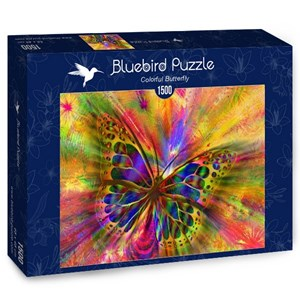 """Bluebird Puzzle (70050) - """"Colorful Butterfly"""" - 1500 pieces puzzle"""
