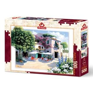 """Art Puzzle (5079) - Peter Motz: """"Cafe Villa"""" - 500 pieces puzzle"""