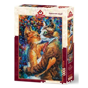 """Art Puzzle (4226) - """"Dance of the Cats in Love"""" - 1000 pieces puzzle"""