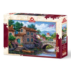 "Art Puzzle (5070) - Arturo Zarraga: ""Flowery Channel"" - 500 pieces puzzle"