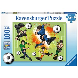 "Ravensburger (10693) - ""In Football Fever"" - 100 pieces puzzle"