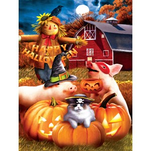 """SunsOut (28810) - Tom Wood: """"Happy Halloween"""" - 300 pieces puzzle"""