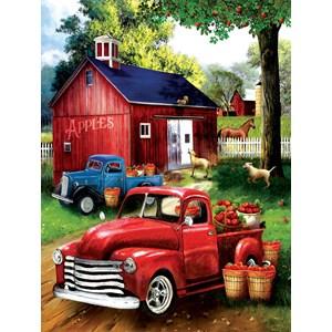 """SunsOut (28716) - Tom Wood: """"Apples for Sale"""" - 300 pieces puzzle"""